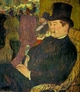 Art - Oil Paintings - Masterpiece #4172 - Henri Toulouse-Lautrec - Portrait of Monsieur Delaporte at the Jardin de Paris - Museum Quality