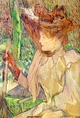 Art - Oil Paintings - Masterpiece #4178 - Henri Toulouse-Lautrec - Honorine Platzer (Woman with Gloves) - Gallery Quality