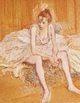 Art - Oil Paintings - Masterpiece #4185 - Henri Toulouse-Lautrec - Dancer Seated - Museum Quality