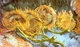 Art - Oil Paintings - Masterpiece #4200 - Vincent Van Gogh - Four Cut Sunflowers - Museum Quality