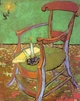Art - Oil Paintings - Masterpiece #4209 - Vincent Van Gogh - Gauguin's Chair with Books and Candle - Gallery Quality
