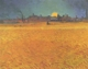 Art - Oil Paintings - Masterpiece #4229 - Vincent Van Gogh - Sunset : Wheat fields Near Arles - Gallery Quality
