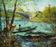 Art - Oil Paintings - Masterpiece #4250 - Vincent Van Gogh - Fishing in the Spring, Pont de Clichy - Gallery Quality