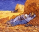 Art - Oil Paintings - Masterpiece #4251 - Vincent Van Gogh - Noon : Rest from Work - Museum Quality