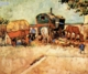 Art - Oil Paintings - Masterpiece #4257 - Vincent Van Gogh - Encampment of Gypsies with Caravan - Gallery Quality