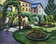 Art - Oil Paintings - Masterpiece #4268 - August Macke - The Mackes' Garden at Bonn - Gallery Quality
