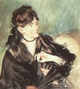 Art - Oil Paintings - Masterpiece #4284 - Edouard Manet - Portrait of Berthe Morisot - Gallery Quality