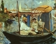 Art - Oil Paintings - Masterpiece #4293 - Edouard Manet - Claude Monet Working on his Boat in Argenteuil - Gallery Quality