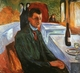 Art - Oil Paintings - Masterpiece #4317 - Edvard Munch - Self Portrait with a Wine Bottle - Gallery Quality