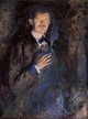 Art - Oil Paintings - Masterpiece #4320 - Edvard Munch - Self Portrait with Cigarette jjj - Gallery Quality