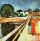 Art - Oil Paintings - Masterpiece #4324 - Edvard Munch - Girls on a Bridge - Gallery Quality