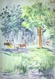 Art - Oil Paintings - Masterpiece #4331 - Berthe Morisot - Carriage in the Bois de Boulogne - Gallery Quality