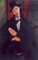 Art - Oil Paintings - Masterpiece #4332 - Amedeo Modigliani - Portrait de Mario - Museum Quality