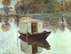 Art - Oil Paintings - Masterpiece #4350 - Claude Monet - The Studio Boat - Museum Quality