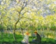 Art - Oil Paintings - Masterpiece #4377 - Claude Monet - Springtime - Gallery Quality