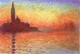 Art - Oil Paintings - Masterpiece #4387 - Claude Monet - San Giorgio Maggiore at Dusk - Museum Quality