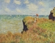 Art - Oil Paintings - Masterpiece #4397 - Claude Monet - Walk on the Cliff at Pourville - Gallery Quality