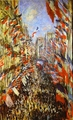 Art - Oil Paintings - Masterpiece #4409 - Claude Monet - La Rue Montorgueil, - Gallery Quality