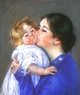Art - Oil Paintings - Masterpiece #4418 - Mary Cassatt - A Kiss for Baby Anne - Gallery Quality