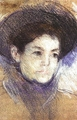 Art - Oil Paintings - Masterpiece #4420 - Mary Cassatt - Portrait of a Woman gg - Museum Quality