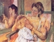 Art - Oil Paintings - Masterpiece #4425 - Mary Cassatt - Woman Combing her Child's Hair - Gallery Quality