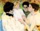 Art - Oil Paintings - Masterpiece #4427 - Mary Cassatt - Women Admiring a Child - Museum Quality