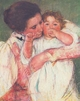 Art - Oil Paintings - Masterpiece #4430 - Mary Cassatt - Mother and Child vvv - Museum Quality