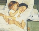 Art - Oil Paintings - Masterpiece #4431 - Mary Cassatt - Breakfast in Bed - Gallery Quality