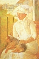 Art - Oil Paintings - Masterpiece #4433 - Mary Cassatt - Woman with Dog ghgh - Gallery Quality