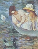 Art - Oil Paintings - Masterpiece #4434 - Mary Cassatt - Summertime - Gallery Quality