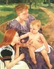 Art - Oil Paintings - Masterpiece #4435 - Mary Cassatt - The Family - Museum Quality