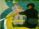 Art - Oil Paintings - Masterpiece #4438 - Mary Cassatt - The Boating Party - Gallery Quality