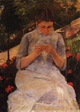 Art - Oil Paintings - Masterpiece #4451 - Mary Cassatt - At the Theatre - Gallery Quality