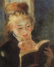 Art - Oil Paintings - Masterpiece #4470 - Pierre Renoir - Woman Reading fff - Gallery Quality