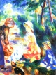 Art - Oil Paintings - Masterpiece #4476 - Pierre Renoir - The Apple Seller - Gallery Quality