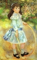 Art - Oil Paintings - Masterpiece #4482 - Pierre Renoir - Girl with a Hoop - Gallery Quality