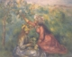Art - Oil Paintings - Masterpiece #4486 - Pierre Renoir - Girls Picking Flowers - Gallery Quality