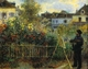 Art - Oil Paintings - Masterpiece #4487 - Pierre Renoir - Monet Painting in his Garden - Gallery Quality