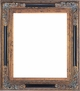 "11 X 14 Picture Frames - Black & Gold Ornate Picture Frame - Frame Style #409 - 11"" X 14"""