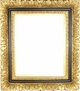 12X16 Picture Frames - Black & Gold Picture Frame - Frame Style #412 - 12X16