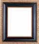 "Picture Frames 12"" x 24"" - Black & Gold Picture Frames - Frame Style #362 - 12 x 24"