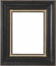 "Picture Frames 12x24 - Black & Gold Picture Frames - Frame Style #401 - 12""x24"""