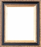 "Picture Frames 16""x20"" - Black and Gold Picture Frame - Frame Style #403 - 16x20"