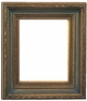 "Picture Frames 24"" x 24"" - Black and Gold Picture Frames - Frame Style #364 - 24 x 24"