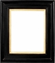 "Picture Frames 24x30 - Black & Gold Picture Frames - Frame Style #363 - 24""x30"""
