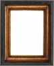 Picture Frames 24 x 36 - Black & Gold Picture Frames - Frame Style #404 - 24 x 36