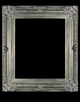Art - Picture Frames - Oil Paintings & Watercolors - Frame Style #614 - 24x36 - Antique Silver - Ornate Silver Frames