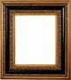 "Picture Frames 48"" x 60"" - Ornate Black & Gold Picture Frame - Frame Style #394 - 48"" x 60"""