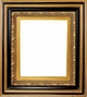 "Picture Frames 48"" x 72"" - Black & Gold Ornate Picture Frame - Frame Style #406 - 48x72"