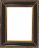 "Picture Frames 8 x 10 - Gold & Black Picture Frames - Frame Style #405 - 8""x10"""